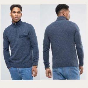 ABERCROMBIE & FITCH Wool Half-ZIP Sweater